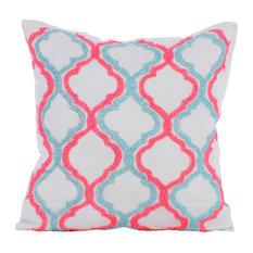 Cotton Sweet Promises Ivory Decorative Cushion Cover, 40x40cm
