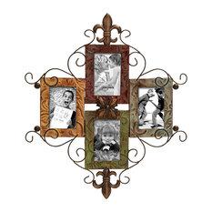 Fleur-de-Lis Metal Photo Frame