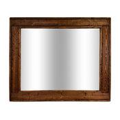 "Herringbone Stained Vanity Mirror, Special Walnut, 42""x30"", Horizontal"