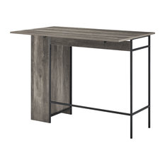48-inch Counter Height Drop Leaf Table With Storage Gray Wash