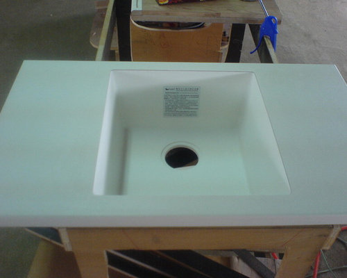 JB 430 Middle Island SQURE Sink Bowl`100%MMA SOLID SURFACE SINK