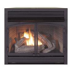 Dual Fuel Fireplace Insert Zero Clearance, 32,000 BTU