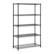 Honey Can Do 5 Tier Black Shelving Unit