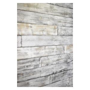 Shiplap Wood Wall, Weathered White/Gray, 96