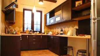Современная кухня для загородного дома