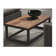 Zuo Era Civic Center Long Coffee Table Distressed Natural Coffee Tables