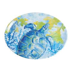 Galleyware Sea Turtle Melamine Oval Platter