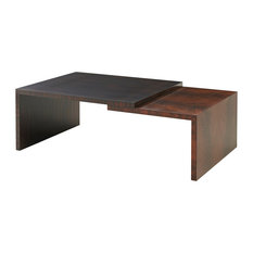 English Georgian America   Modern Walnut U0027Lu0027 Shapes Cocktail Table   Coffee  Tables
