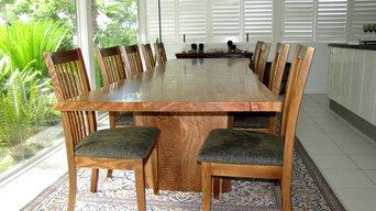 Natural Edge Table Setting