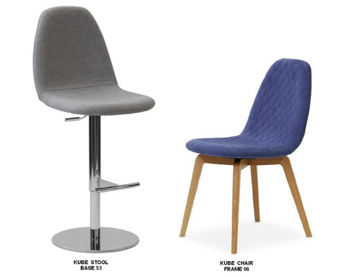 Bar Stools With Matching Chairs For Open Plan Areas