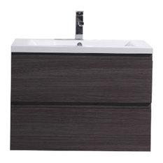 "MOD - Warwick Single Sink Bathroom Vanity Set, Gray Oak, 30"" - Bathroom Vanities and Sink Consoles"
