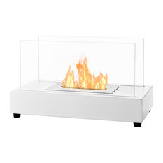 Ignis   Tower White Tabletop Ventless Ethanol Fireplace   Tabletop  Fireplaces