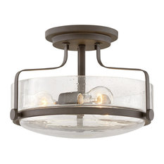 Foyer Harper, Oil Rubbed Bronze with Clear Seedy glass