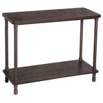 """VASAGLE - Industrial Console Table, Sofa Table with Iron Pipe Legs, Accent Table, Rustic D - MAKE A STATEMENT: Surprise your family and friends with your positive life decisions the moment they walk in the door; this entryway console table features a combination of industrial iron pipe style and earthy elements that proudly state """"I actually know what I'm doing""""."""