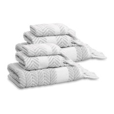 Linum Home Textiles - Linum Home Textiles Assos 6-Piece Towel Set, Dove Gray - Bath Towels