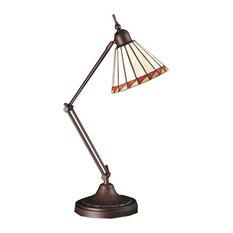 "Meyda 23"" Prairie Mission Adjustable Desk Lamp"