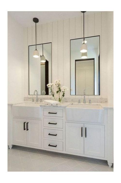 Bathroom Vanity Pendant Vs Over The, How To Hang Bathroom Lights Over A Mirror