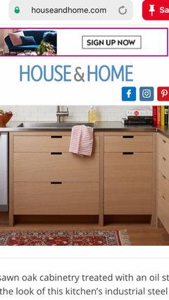 rift cut white oak kitchen cabinets