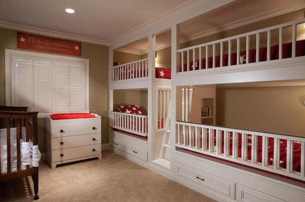 Traditional Nursery by GDC Construction