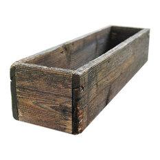 "24"" Rustic Cedar Planters Box, Tall Version, Aged Rustic, 4"""