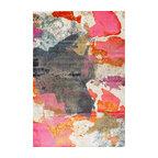 Vintage Abstract Paisley Rug, Pink, 5