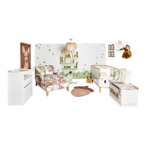 Hedgehugs Complete Woodland Nursery, Blind Size 120x180 Cm