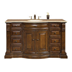 Travertine Stone Top Bathroom Vanity