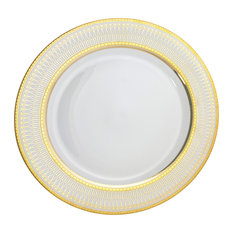 Iriana Charger Plates, Set of 6, Gold