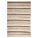 Sams International - Abacasa Textures Murphy Natural and Beige Area Rug, 8'x10' - The Textures Murphy Area Rug is made from 100% New Zealand wool and combines a unique palate of natural earth tones into a series of stunning textural woven and tufted stripes. The Textures collections will bring a warm, yet neutral and understated elegance to your home.