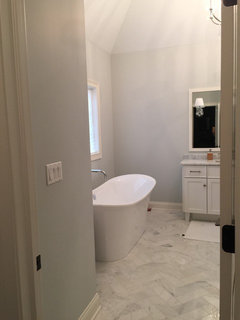 pretty benjamin moore revere pewter bathroom. I have revere pewter on the entire first floor  stonington gray bluish undertone in basement and wickham master bath powder room a very Stonington Gray or Revere Pewter