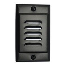 NICOR FPVBK Vertical Faceplate for LED Step Light STP-10-120-WH