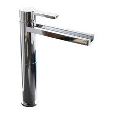 Waterfall Bathroom Faucet, Polished Nickel