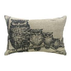 Owl Linen Pillow