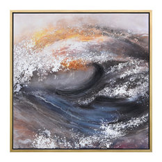 Tornado Abstract Textured Metallic Hand Painted Wall Art by Martin Edwards