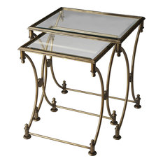 Butler Beverly Antique Gold Nesting Tables, 2-Piece Set