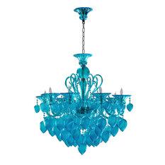 The Milan Aqua Glass Chandelier