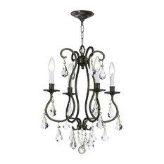 Crystorama Ashton, 4-Light Mini Chandelier, English Bronze