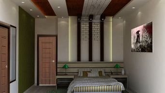Bed room and bed room false ceiling