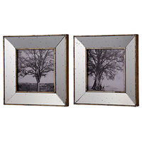 Kirby Mirror Square Picture Frames, Set of 2 Wall Art, Champagne