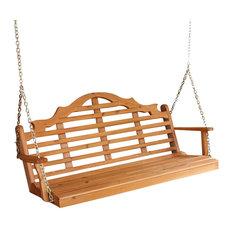 4' Cedar Porch Swing, Marlboro Design Stain, Mushroom Stain
