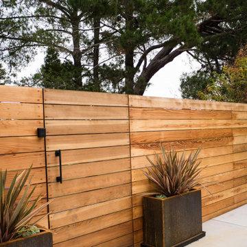 Estate garden with contemporary features