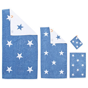 Stars Summer Towel Collection, Grey-Blue