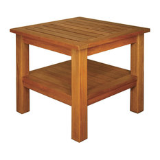 """Terrace Mates 20x20"""" Two Shelf High End Table, Square"""