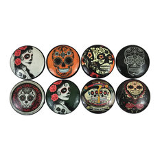 8 Piece Set Day of the Dead Cabinet Knobs