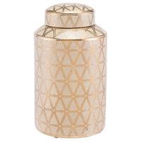 Zuo Modern A1106M Link Ceramic Covered Medium Jar