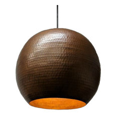 SoLuna Copper Globe Pendant in Cafe Natural, Small