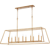 Gabriel Quorum Home Collection Pendant in Gold Leaf