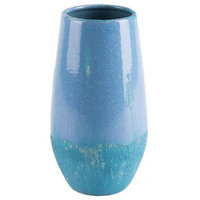 Small Blue & Teal Vase With Contrasting Textures