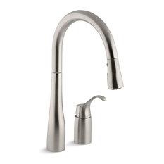 Kohler - Kohler Simplice 2-Hole Kitchen Sink Faucet, Vibrant Stainless - Kitchen Faucets