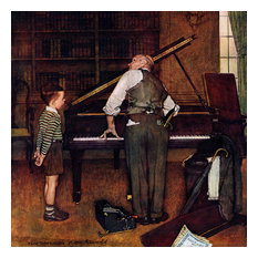 """""""Piano Tuner"""" Painting Print on Canvas by Norman Rockwell"""